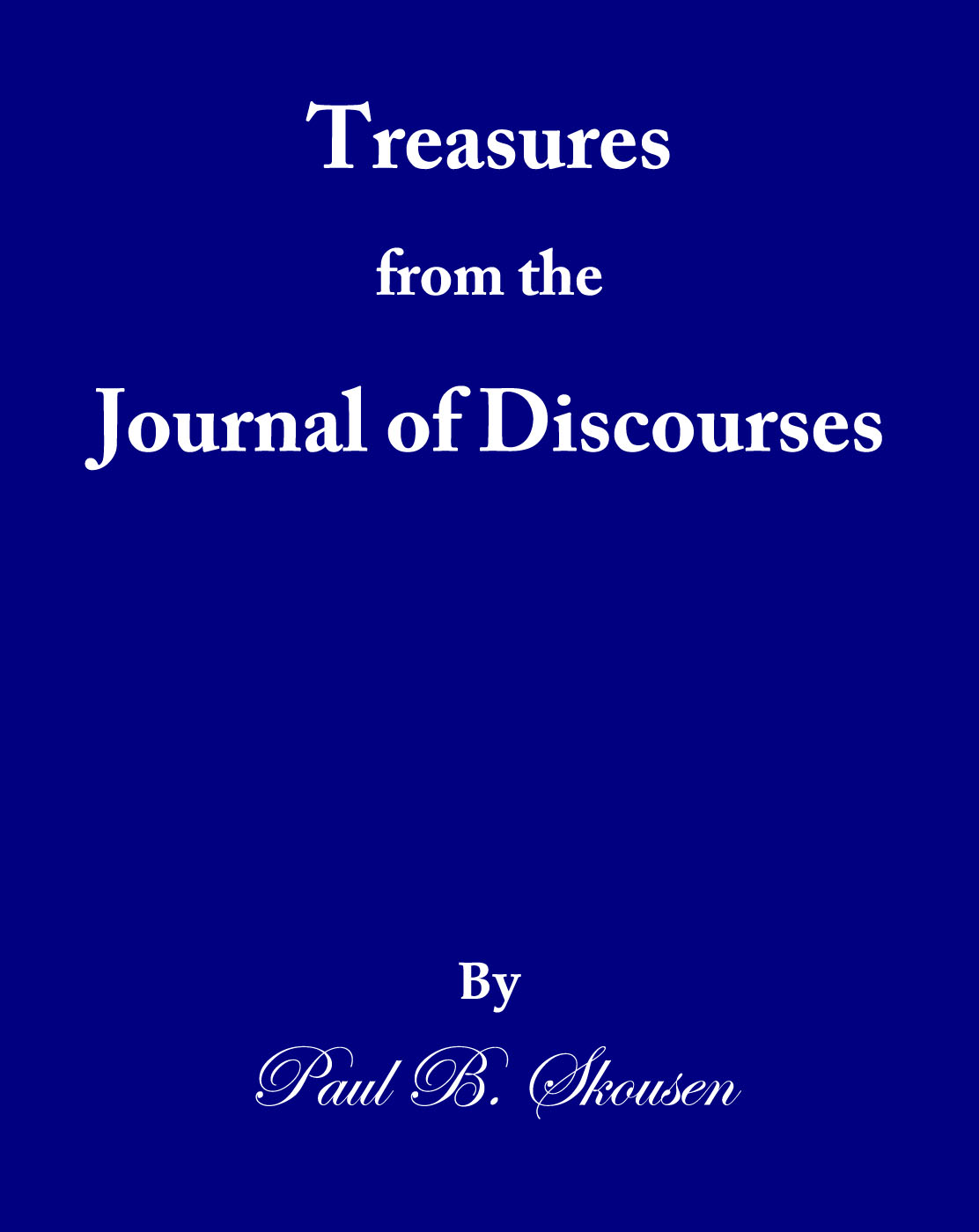Treasures from the Journal of Discourses cover